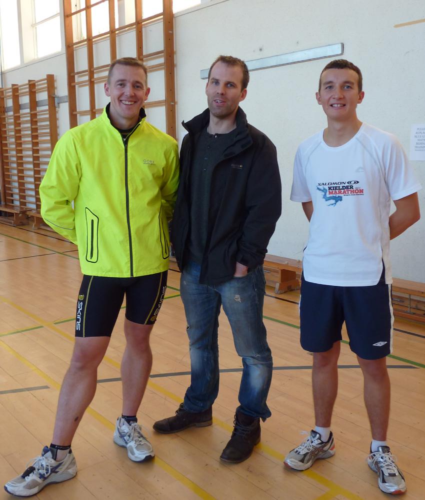 The Marathon Men and their Trainer!