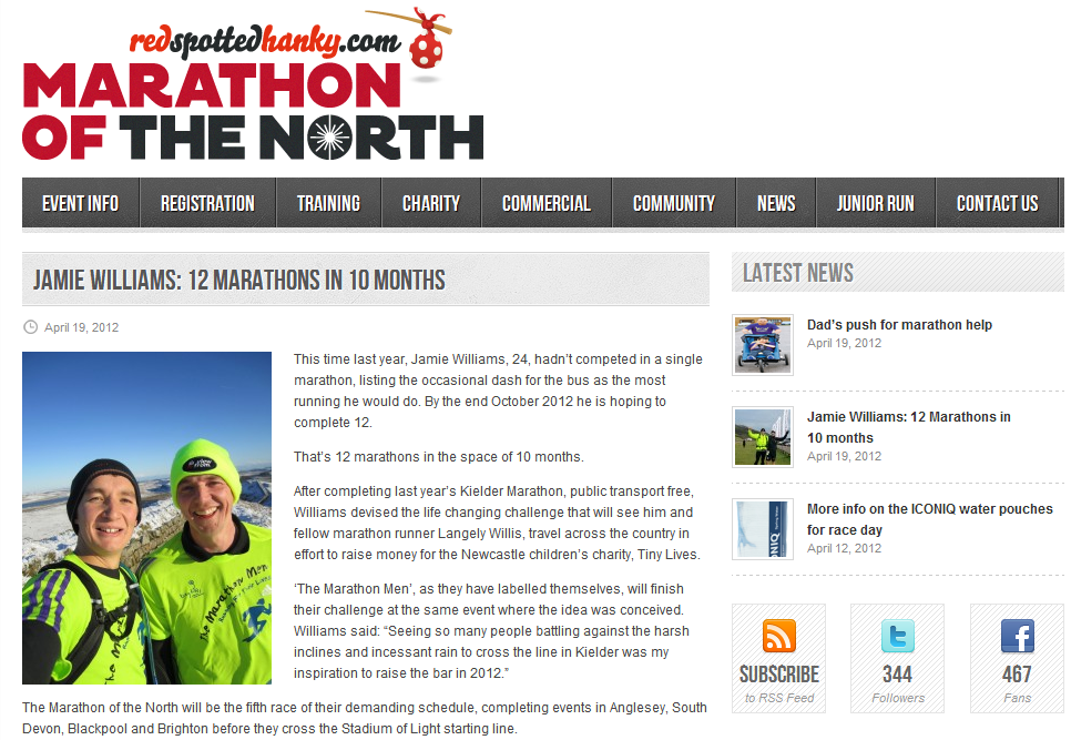 Marathon of the North Press
